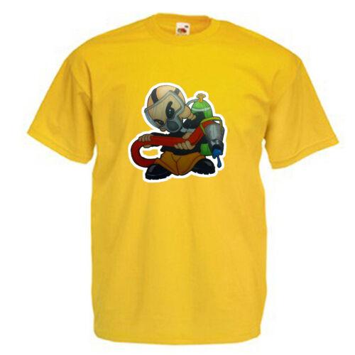Pompier pompier Homme T shirt 12 Couleurs Taille S 3XL