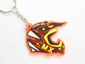 MX HELMET Orange KTM Color Motocross Keychains Porte Clefs - Porte clefs photo