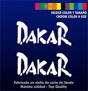 Details About 2 X Sticker Vinilo Dakar Pegatina Vinyl Aufkleber Rally Coche Moto Show Original Title
