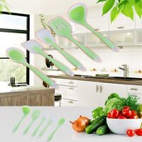 Silicone 5 Piece Kitchen Cooking Utensil Set Heat Resistant Non Stick Tools QT
