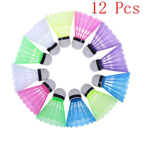 12 Pcs Colorful Plastic Badminton Ball Shuttlecocks Sport Training SpoHK