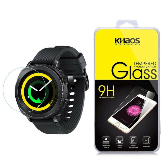 41bdafe3 Khaos for Samsung Gear Sport Smartwatch Tempered Glass Screen Protector for  sale online | eBay
