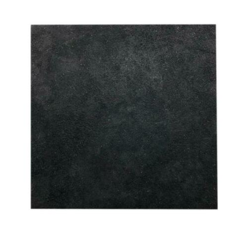 Remnant Skin Crafts Jewell 15cm x 15cm Black Square Split Leather Suede Piece