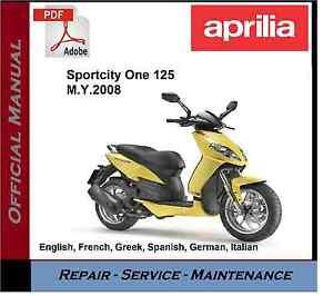 image is loading aprilia-sportcity-one-125-2008-onwards-workshop-service-
