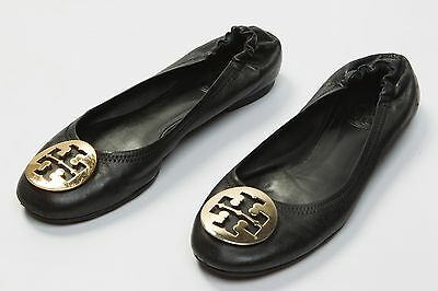 d2ce13ded Women s Tory Burch Reva Ballet Flats Shoes Size Sz US 7 M Black Leather  Logo