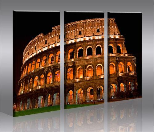 Kolosseum 3 Bilder Bild Rom auf Leinwand Wandbild Poster