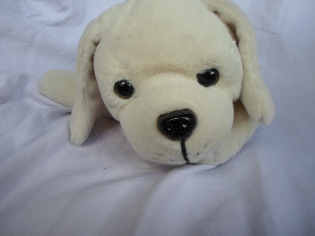 2009 Mattel Barbie White Puppy Dog Sound 13  Plush Soft Toy Stuffed Animal