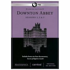Downton Abbey Seasons 1,2,&3 + Secrets of Highclere Castle DVD UK Edition SEALED