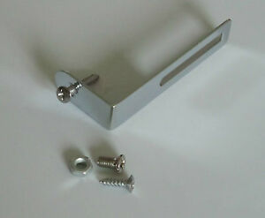 Chrome-Pickguard-Bracket-Scratch-Plate-Bracket-w-Screws-fits-Les-Paul-Guitar