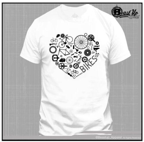 Vélo Love T Shirt Couleurs Tailles M-2XL Vélo De Route BMX Mountain bike fixie jante Art