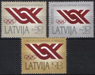 323/25 Minr Gerade Lettland Nationale Olympische Komitee Eine GroßE Auswahl An Farben Und Designs