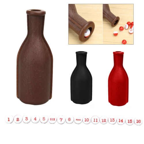 1Pc Billiard Kelly Pool Table Shaker Bottle w// 16 Numbered Tally Balls Peas Pack