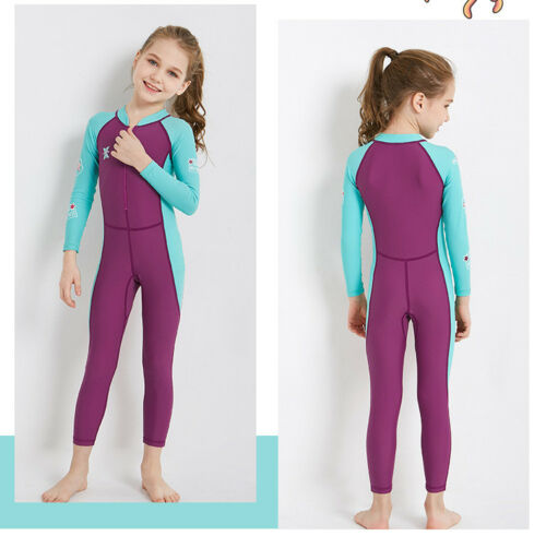 Children Swimwear Wetsuit UV Protection Thin Long-sleeved Diving Swimming Suit