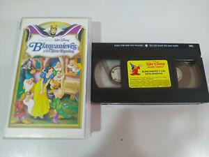 BLANCANIEVES-Y-LOS-SIETE-ENANITOS-Los-Clasicos-de-Walt-Disney-VHS-Cinta