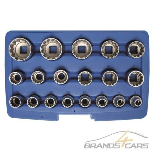BGS Gear Lock clés à douille Set 19 pièces extérieur cannelé Noix Douille Utilisation