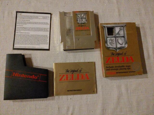 The Legend of Zelda (Nintendo, NES) Complete w/ manual & instructions, Orig Box