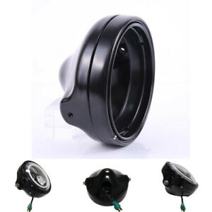 7-034-Black-Aluminum-Motorcycle-Headlight-Cover-Housing-Holder-For-FXWG-FXDWG-FXST