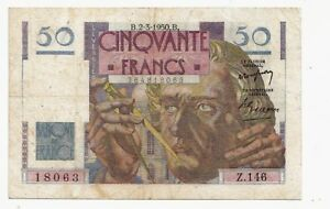 Francia-France-50-franchi-2-3-1950-BB-VG-Pick-127b-rif-2523