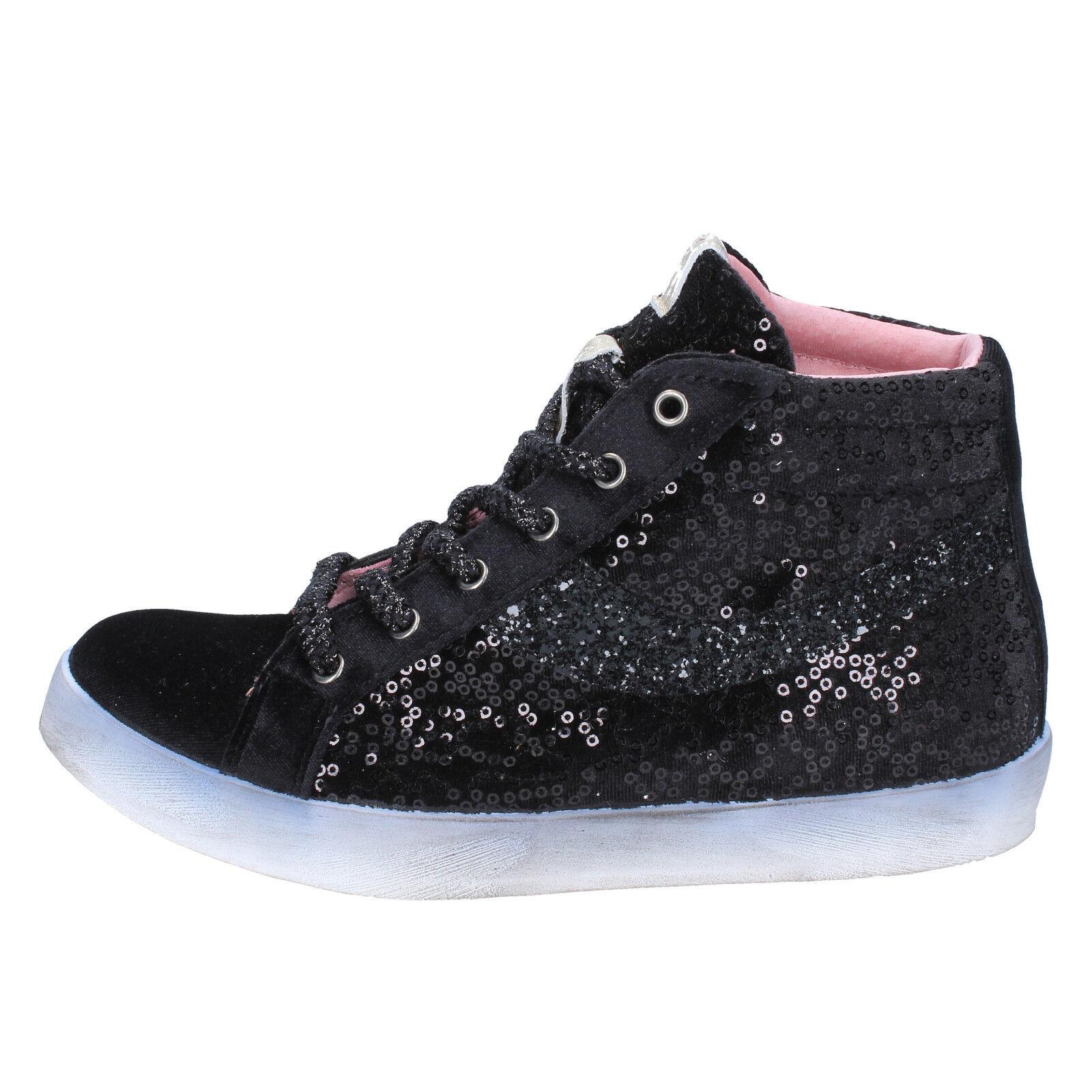 Donna FIORI DI PICCHE velluto 39 EU scarpe da da da ginnastica nero ... b51930