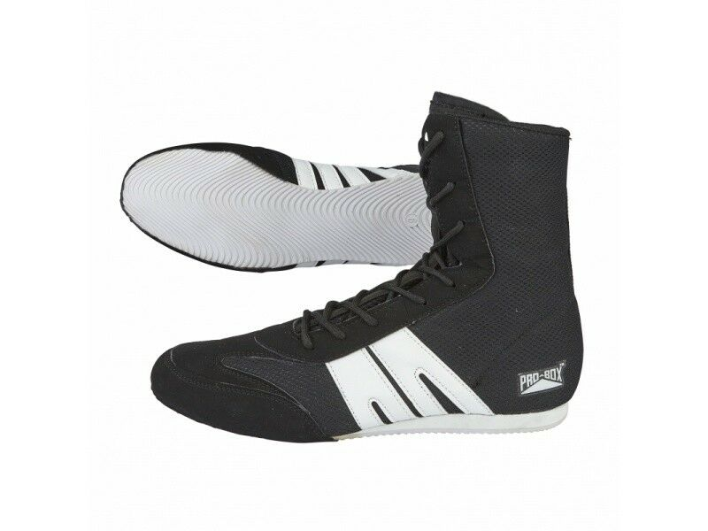 Pro Box Boxe Stivali Adulto Uomo Donna Nero Gym Training Boxe Scarpe Corto