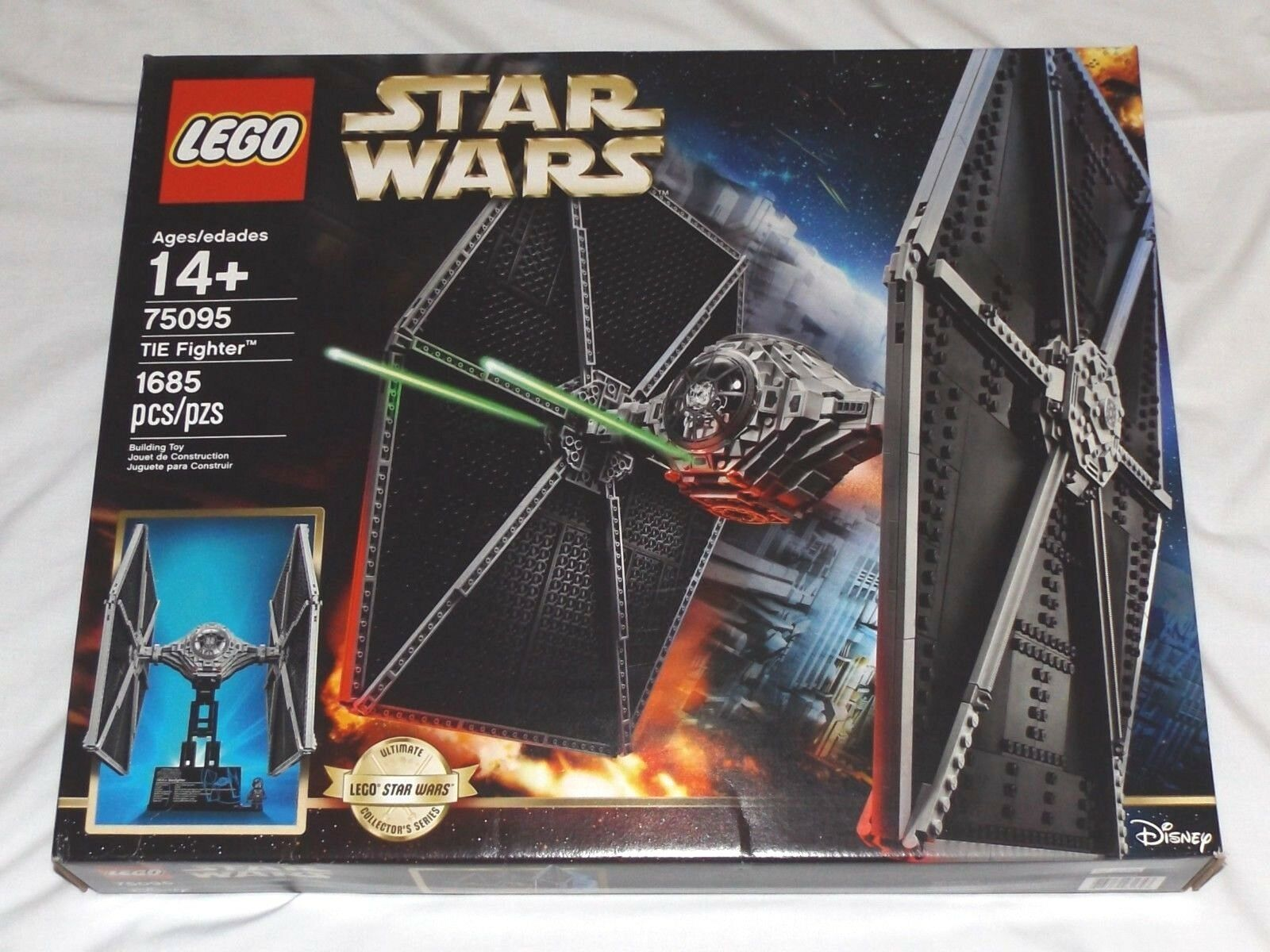 LEGO Star Wars TIE FIGHTER DAMAGED BOX Ultimate Collector Series UCS 75095 pilot