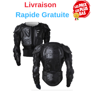 Veste-Armure-Moto-Blouson-Motard-Gilet-Protection-Moto-Homme-ou-Femme-Noir-Neuf