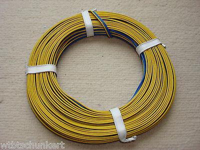 5m Kabel Litze Drillingslitze 3x0,14mm² blau//blau//gelb 5 Meter Ring MÄRKLIN