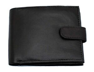 RFID BLOCKING Wallet For Mens Bifold Zipped Coin Purse And ID Window 421 Black