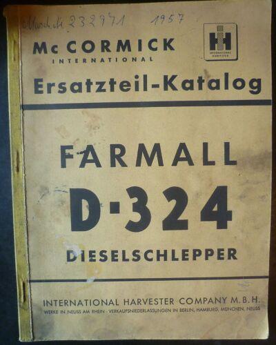 MC Cormick Farmail D324 Traktoren Ersatzteil-Liste