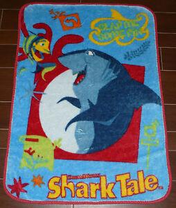 Dreamworks Shark Tale 2004 Plush Luxury Toddler Blanket 31 X 44 Ebay