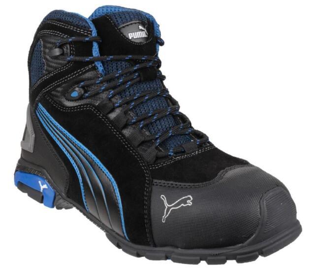 dc58dd40 Puma Safety RIO MID 632250 Mens Aluminium Cap S3 SRC Leather Safety Shoes  Black