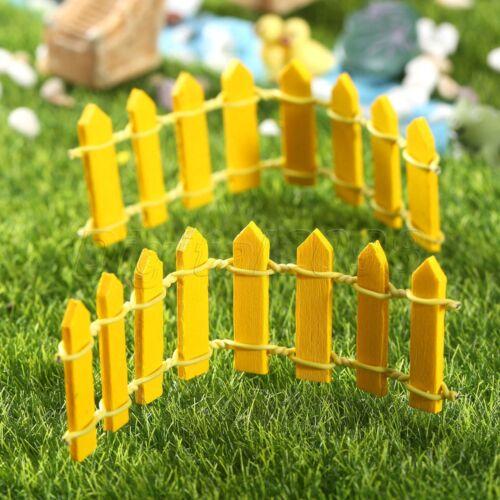 Miniature Fence Yard Garden Outdoor Living Lawn Ornaments Fairy Dollhouse Decor