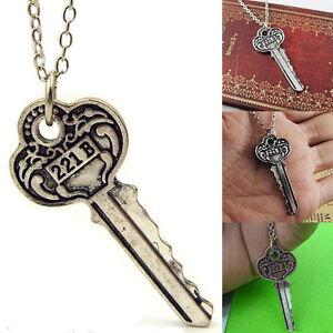 Fashion-Detective-Sherlock-Sherlock-Holmes-The-Key-to-221B-Vintage-Necklace