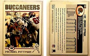 Michael Pittman Signed 2004 Topps #224 Card Tampa Bay Buccaneers Auto Autograph