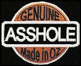 034-GENUINE-ASSHOLE-made-in-OZ-034-BIKER-PATCH