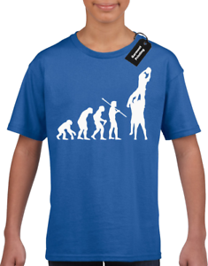 EVOLUTION OF RUGBY LINEOUT KIDS CHILDRENS BOYS T-SHIRT TOP PLAYER FAN