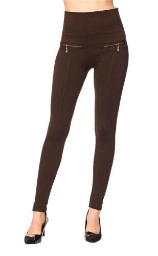 Highwaist Fleece Lined with Dual Zippers Long Leggings