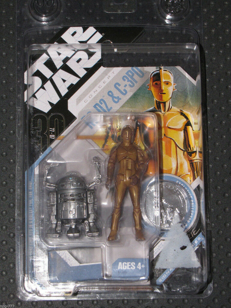 Rare Star Wars 30th Concept R2-D2/C3PO McQuarrie Signature Series Coin Exclusive