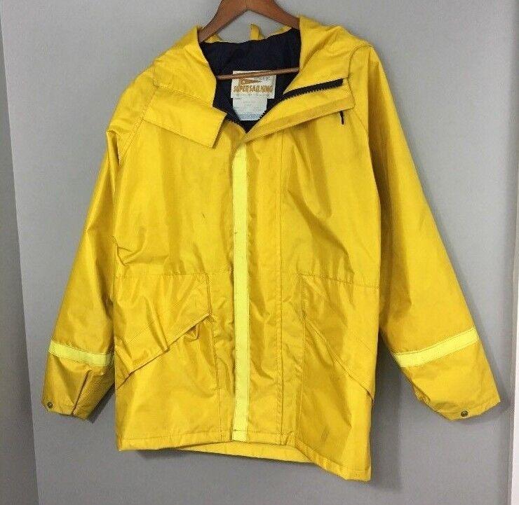 goldbergs Marine Super Sail King Foul Weather Mens XS Yellow Sailing Rain Coat
