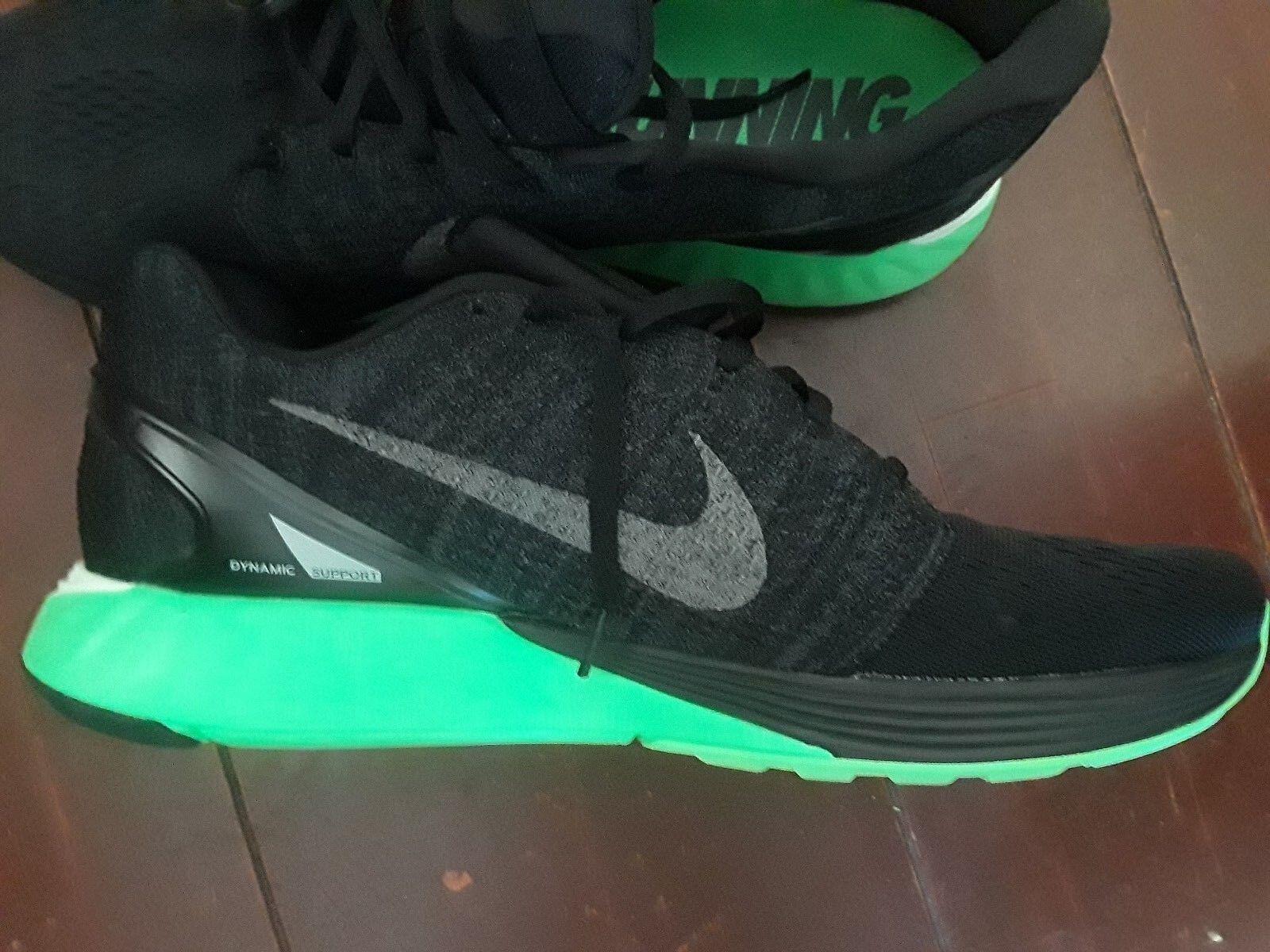 NEW Uomo NIKE LUNARLON RUNNING scarpe verde STABLE RIDE SOFT  nero   SOFT 7c378c