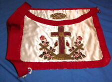 A antique masonic rose croix apron in silk, 18 degree