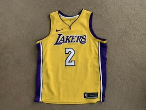check out c81f2 0210c Details about USED LAKERS LONZO BALL 2 JERSEY SWINGMAN NIKE XL 52 WISH  AUTHENTIC NBA CONNECTED