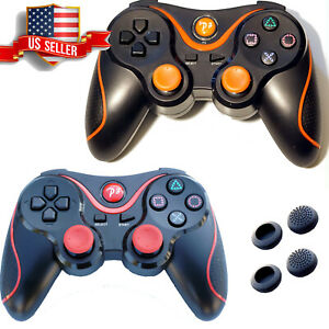 Pack-of-2-Wireless-Bluetooth-Game-Controller-PS3-Playstation-3