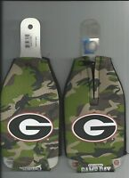 Georgia Bulldogs Oval Camo Koozie Bottle Zipper Camouflage Koozie