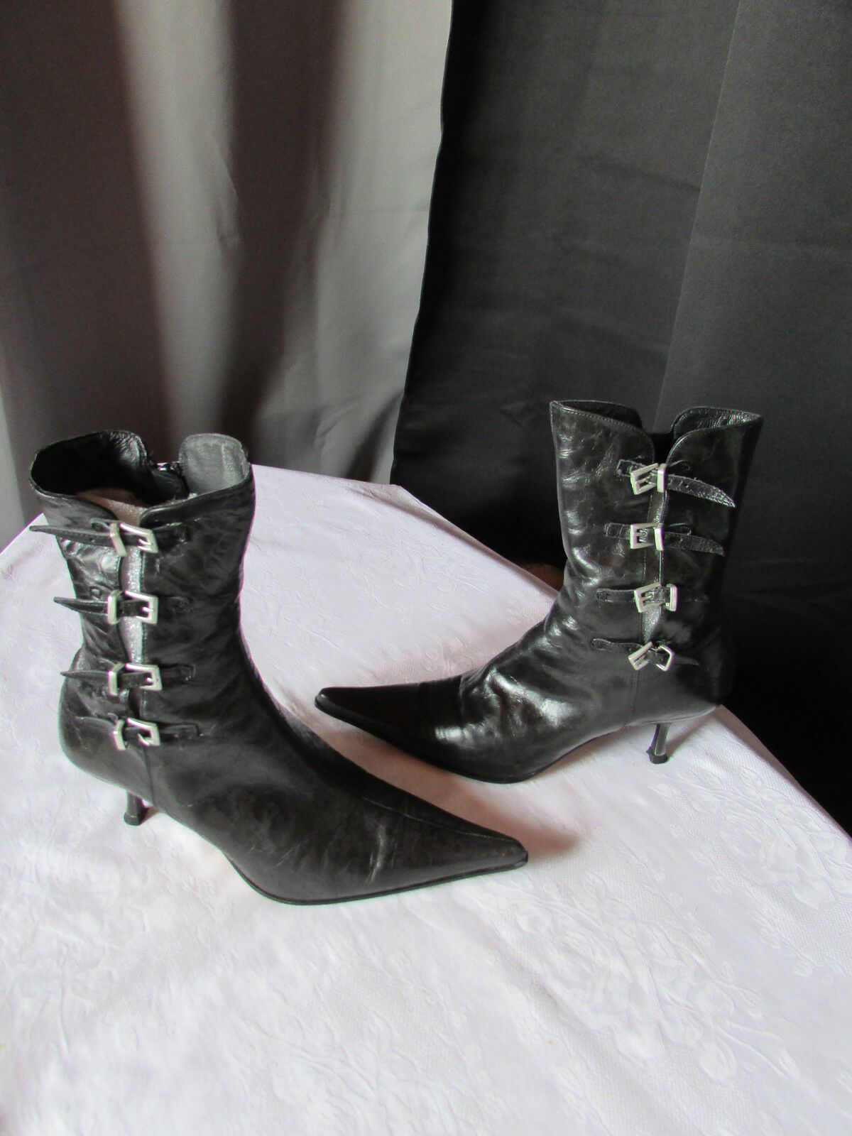 Bottines fluxa cuir noir 36