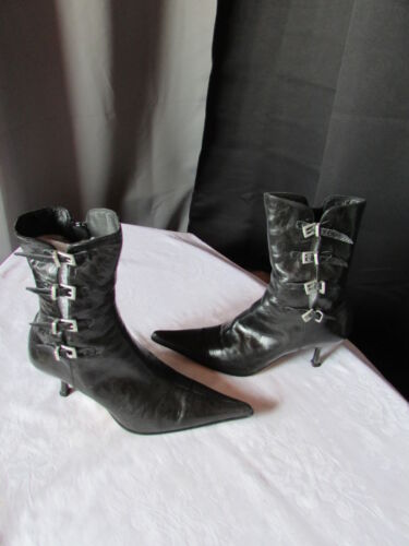 Bottines Noir Bottines 36 Fluxa Cuir Fluxa q481xzdn8