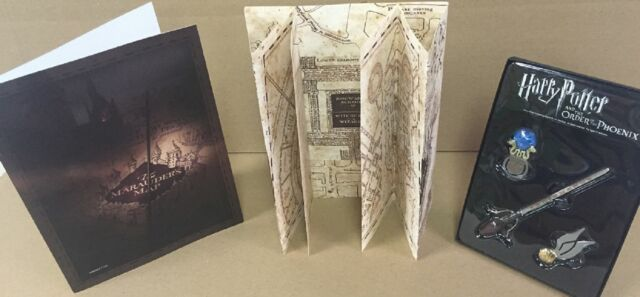 Marauder's Map Hogwarts Wizarding World Harry Potter+Bookmark - LIMITED **NEW**
