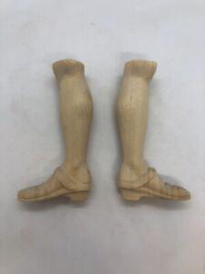 Coppia-piedi-donna-statue-wood-Feet-restauro-pastori-statua-6-Cm-pianta-scarpa
