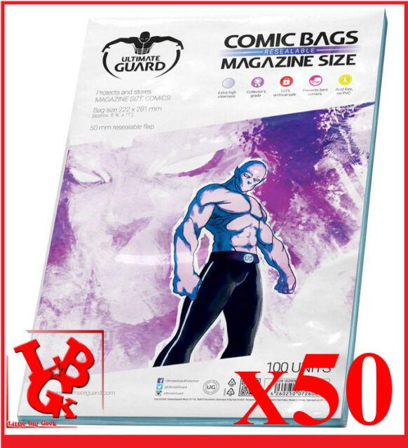 Pochettes Protection MAGAZINE Size comics x 50 Ultimate Guard # NEUF #