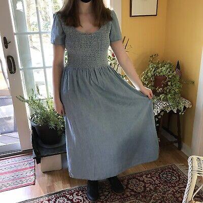 Main Street Maxi Dress  Vintage 1990/'s Denim /& Co size Medium